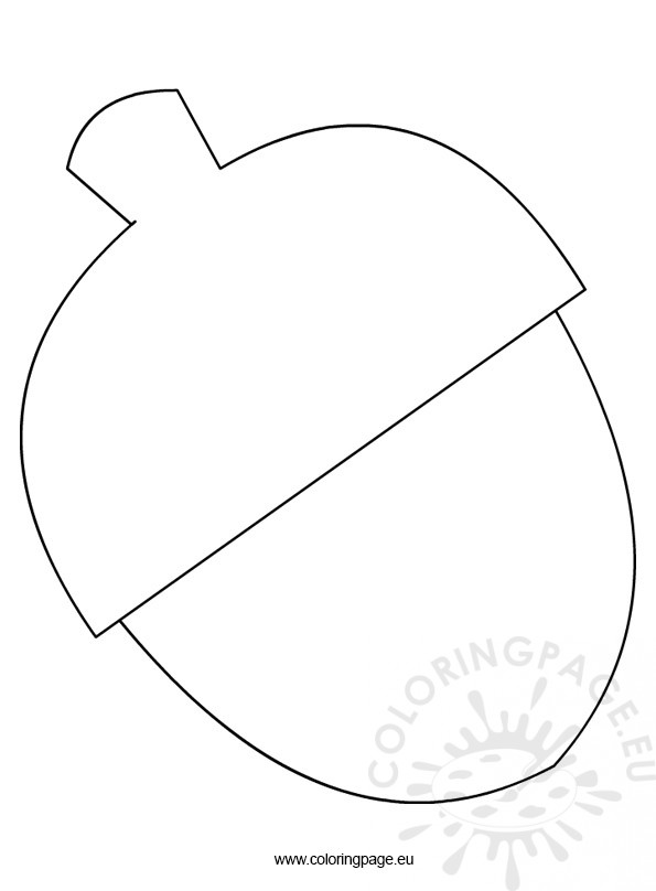 Printable Acorn Template | Coloring Page