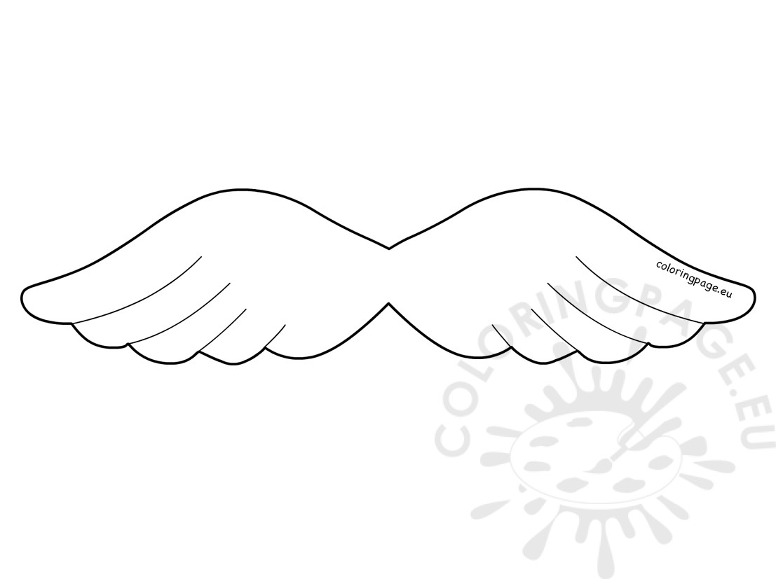 angel wing template April.onthemarch.co