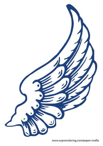 Printable Angel Wings Template