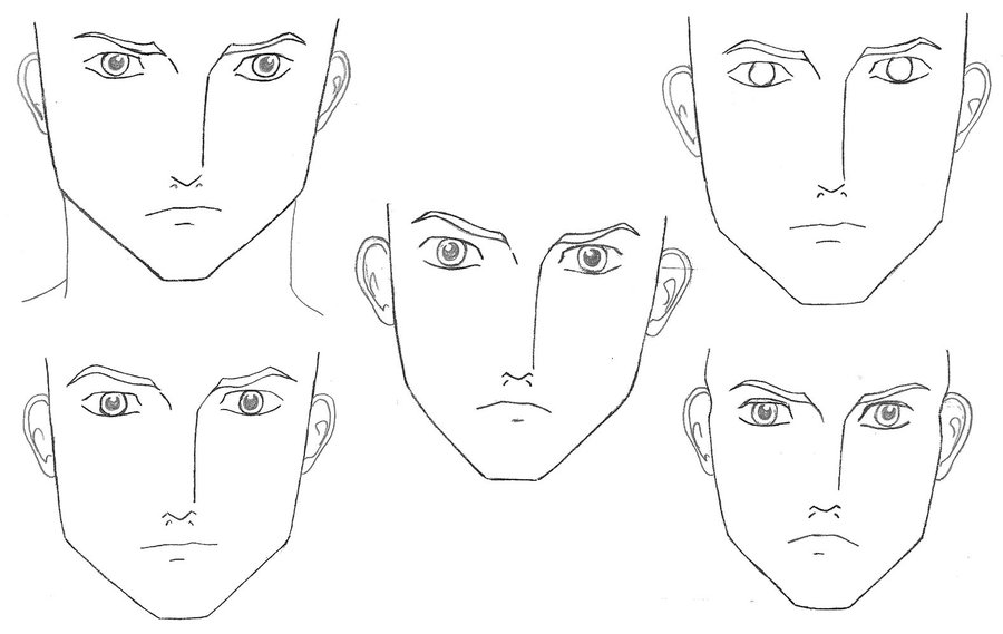 Bishy Face template front by Jee Youn Lim on DeviantArt