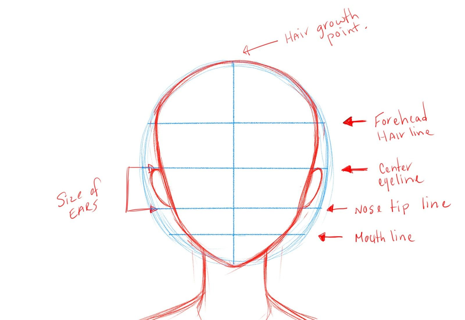 Anime Face Template. anime hair anime and how to draw anime on