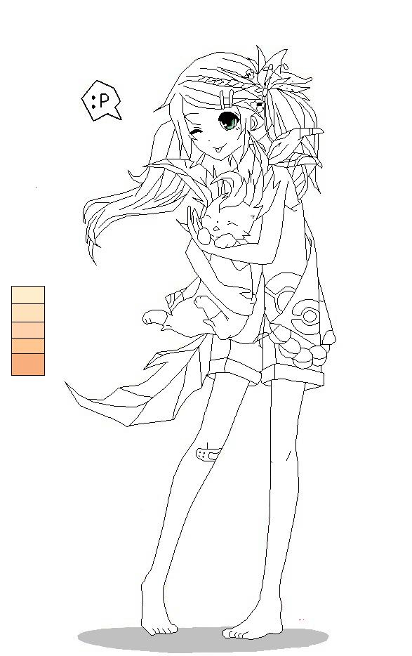 Anime Girl with Pokemon Base by DTokSIck on DeviantArt