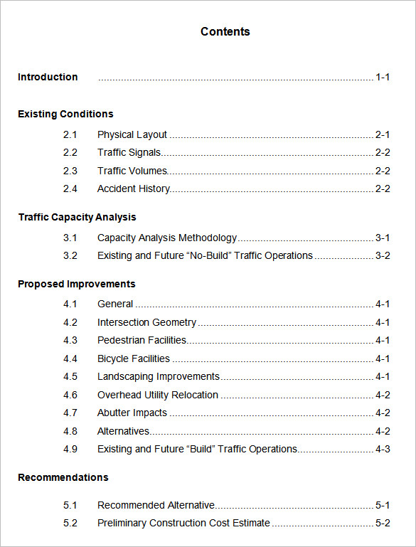 Table Of Contents Page Apa Format Example on for manuscript, how make, for figures, for thesis,