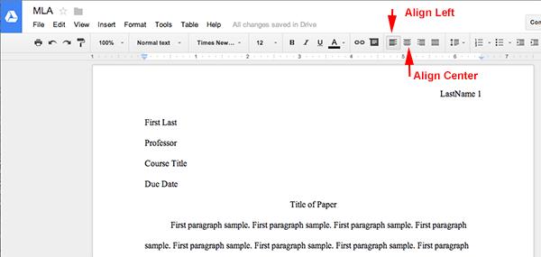 Apa Template Google Docs | Business Template Idea