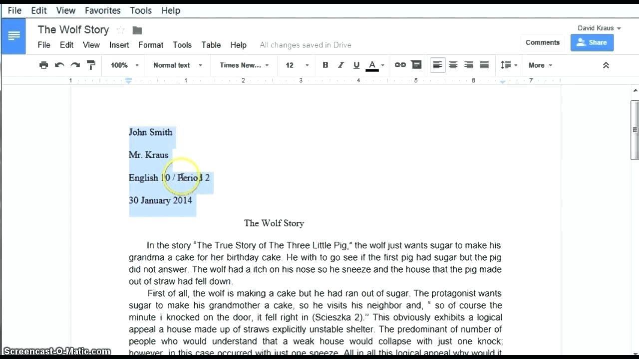 Apa Template Google Docs | Business Plan Template