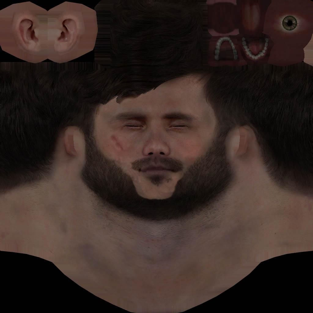 How to have proper hair on custom face? : arma