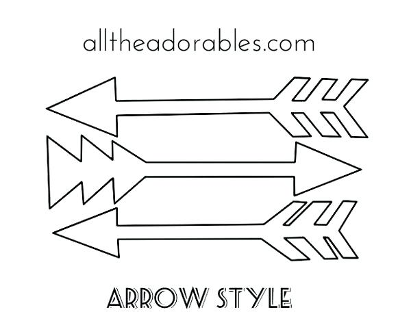arrow templates April.onthemarch.co