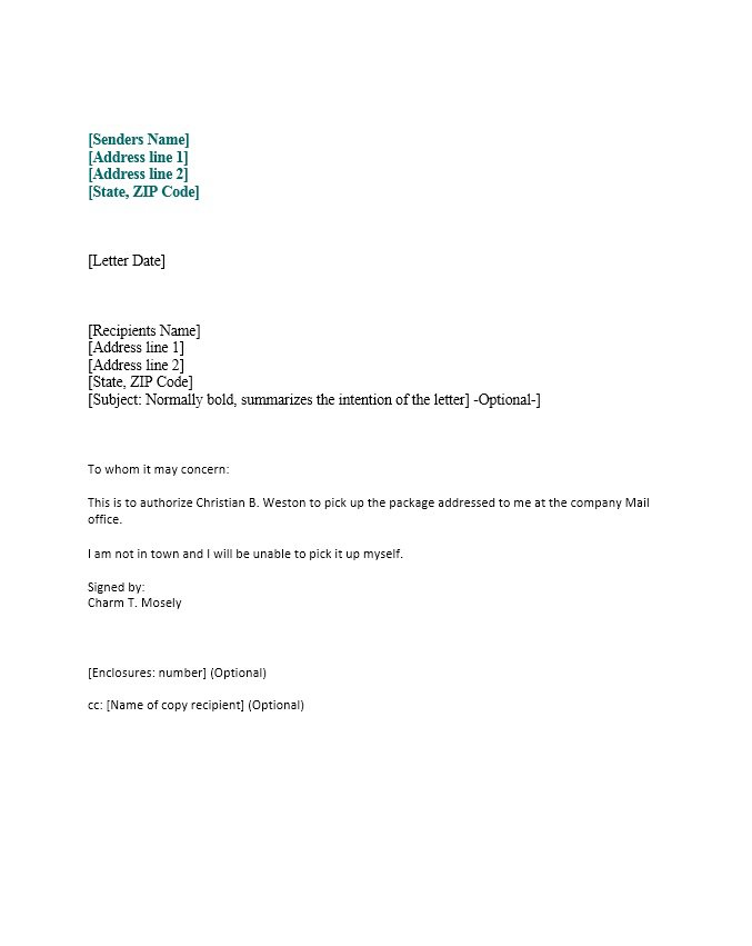 46 Authorization Letter Samples & Templates Template Lab