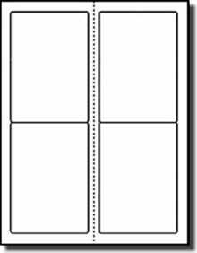 80 Compulabel® 312524 Laser and Inkjet Printer Labels 3.5 x 5, 20