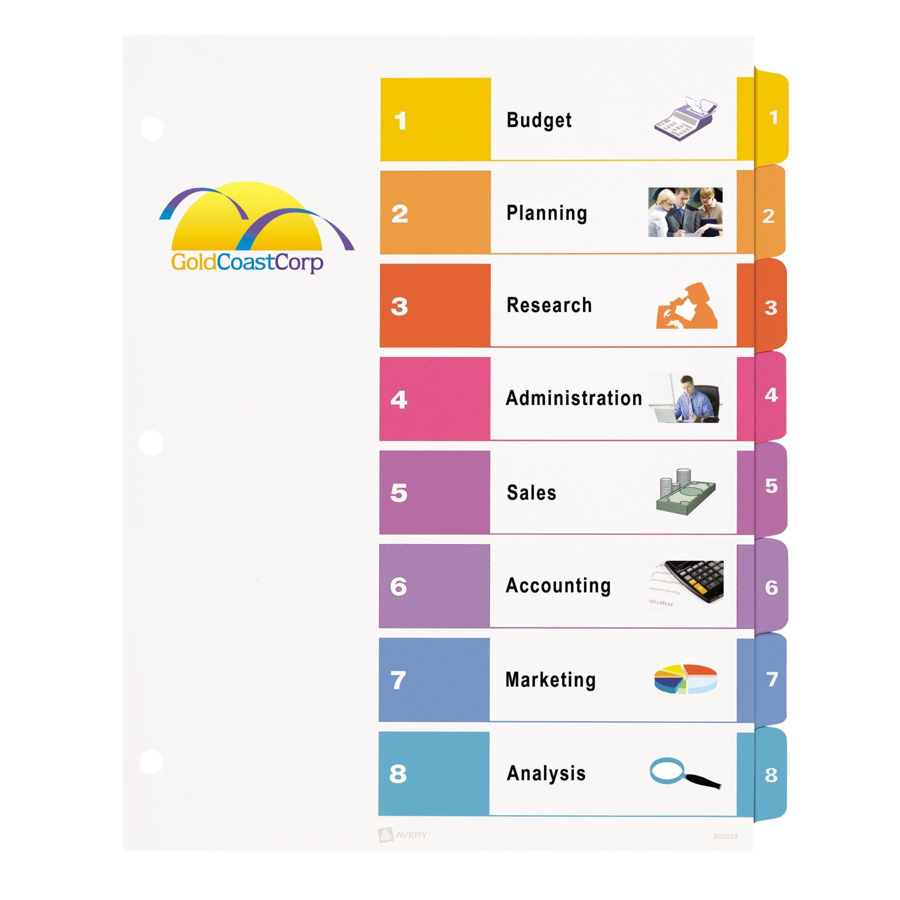 It is a photo of Sizzling Divider Tab Template