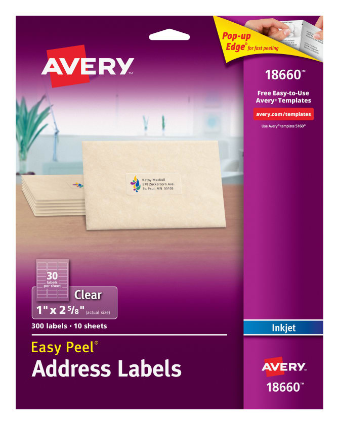 Blank Mailing Labels, Similar to Avery: 5160, 5960, 8460, Label