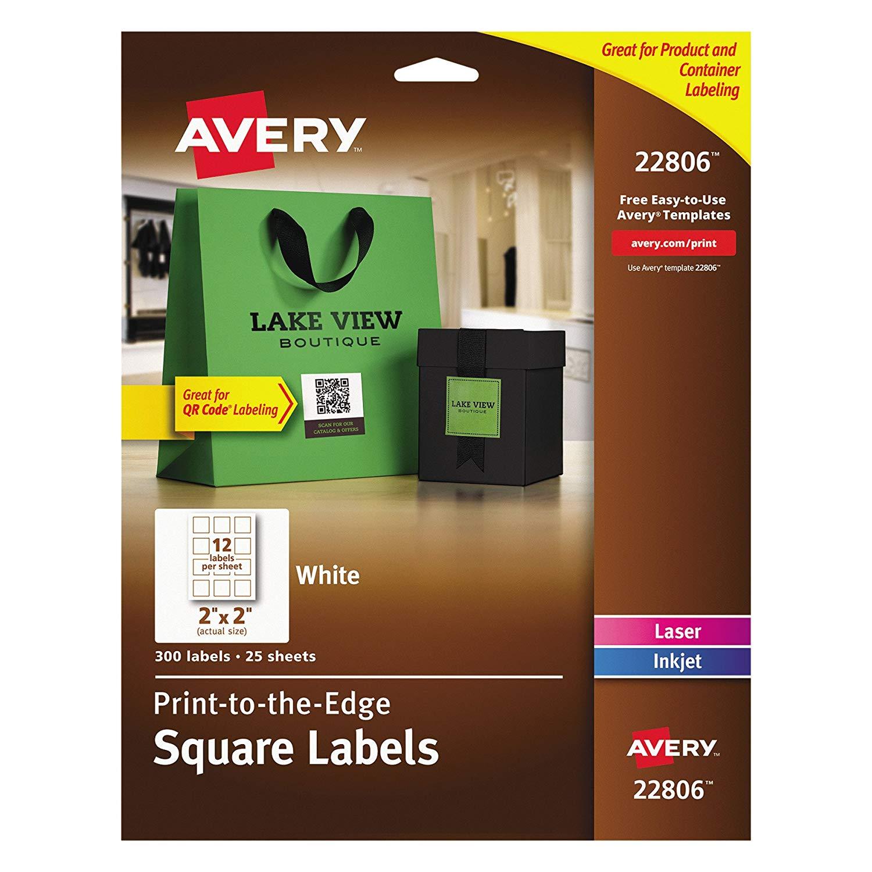 Amazon.: Avery Easy Peel Print To The Edge, Permanent White
