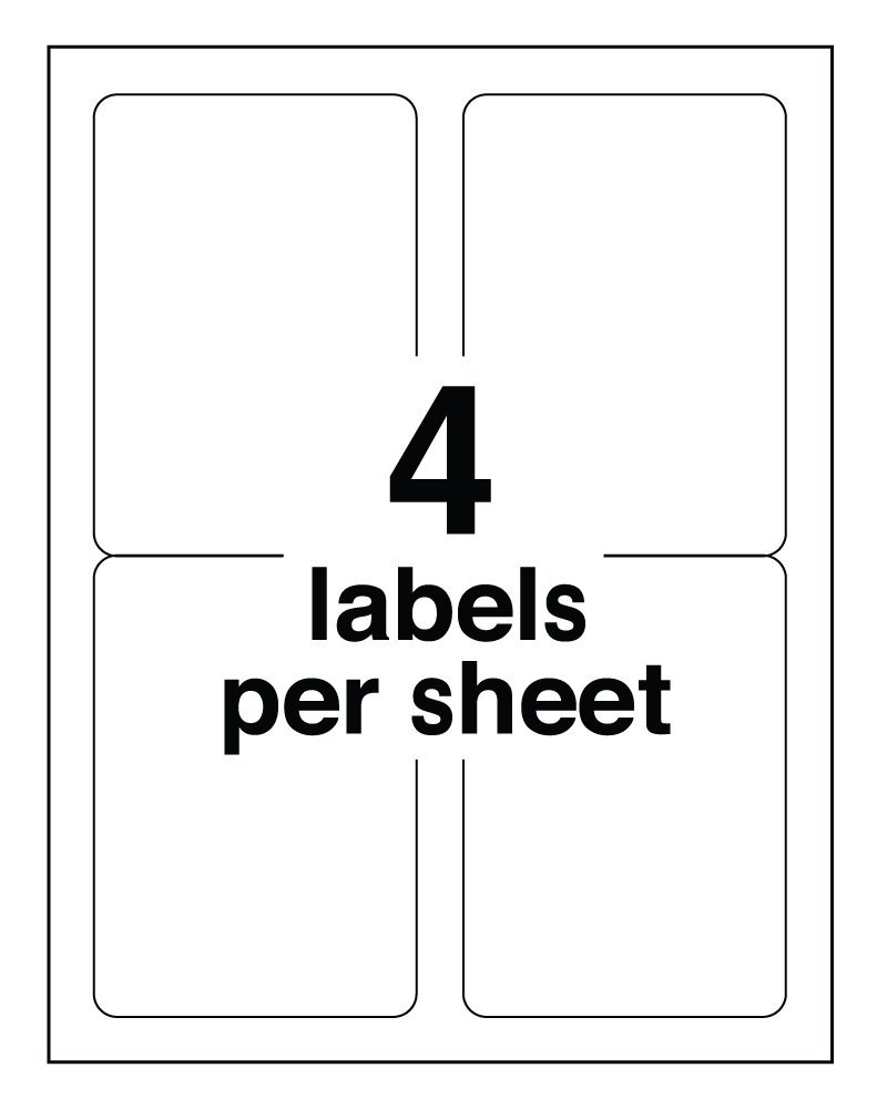 White Uncoated Labels Rectangle 3 1/2 x 5 | LT355 4