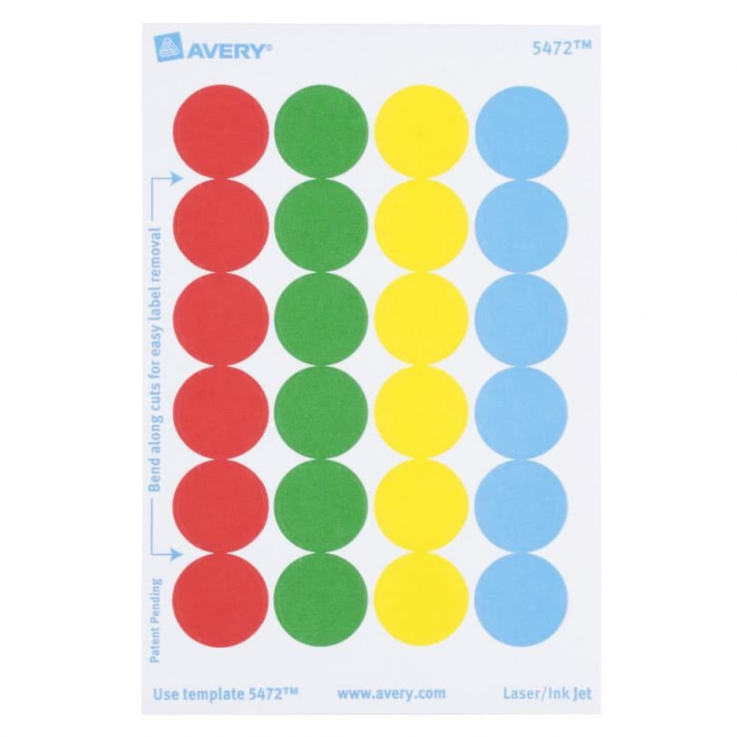 Amazon.: Avery Removable Print or Write Color Coding Labels