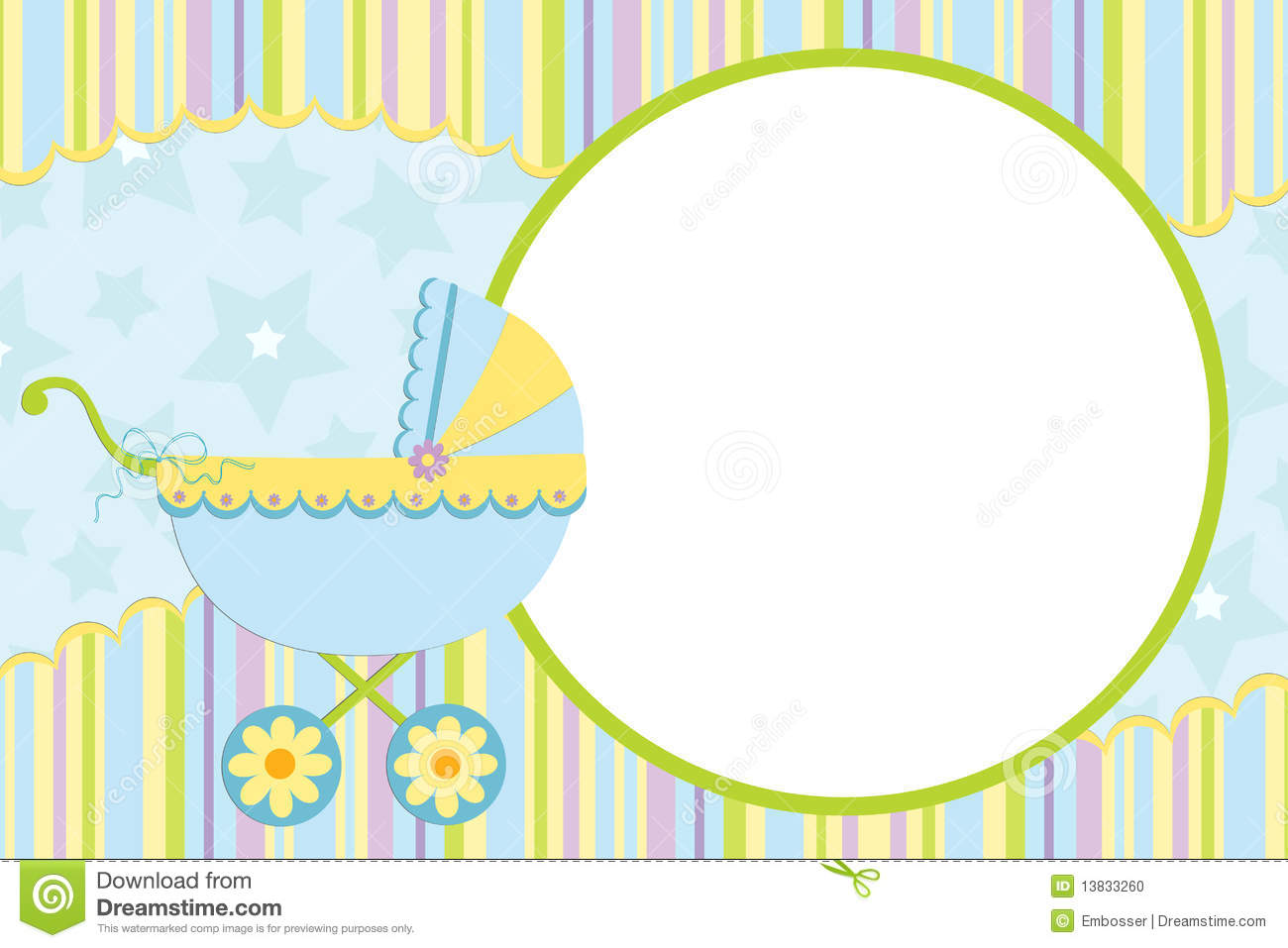 Template For Baby's Photo Album Stock Vector Illustration of
