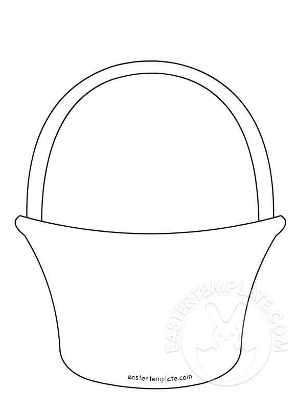 Paper Basket Template Printable | Easter Template