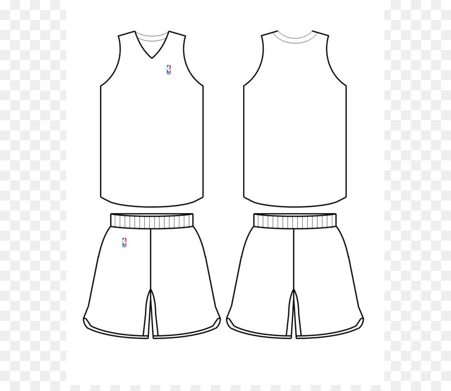 NBA Template Basketball uniform Jersey Jersey Template png
