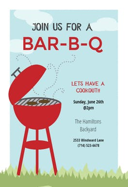 BBQ Party Invitation & Flyer Templates (Free)   Greetings Island