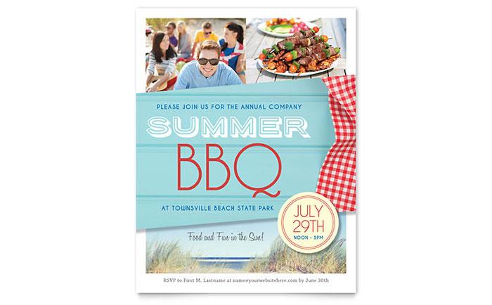 Summer BBQ Flyer Template Design
