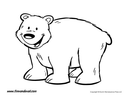 template of a bear April.onthemarch.co