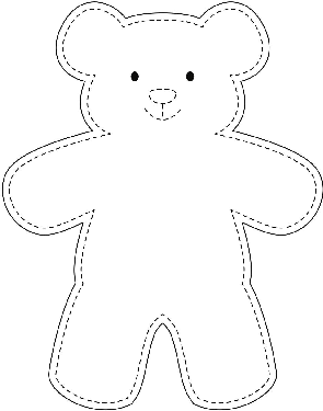 Teddy bear template by A Clever Cookie | Teachers Pay Teachers