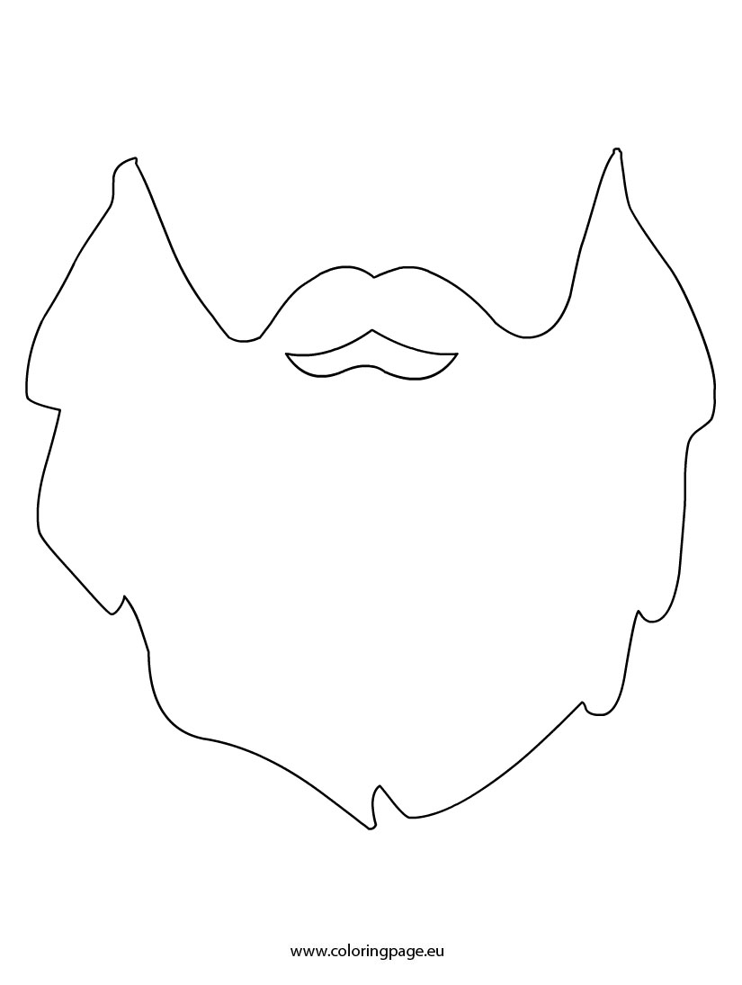 Printable beard photo booth prop. Create DIY props with our free