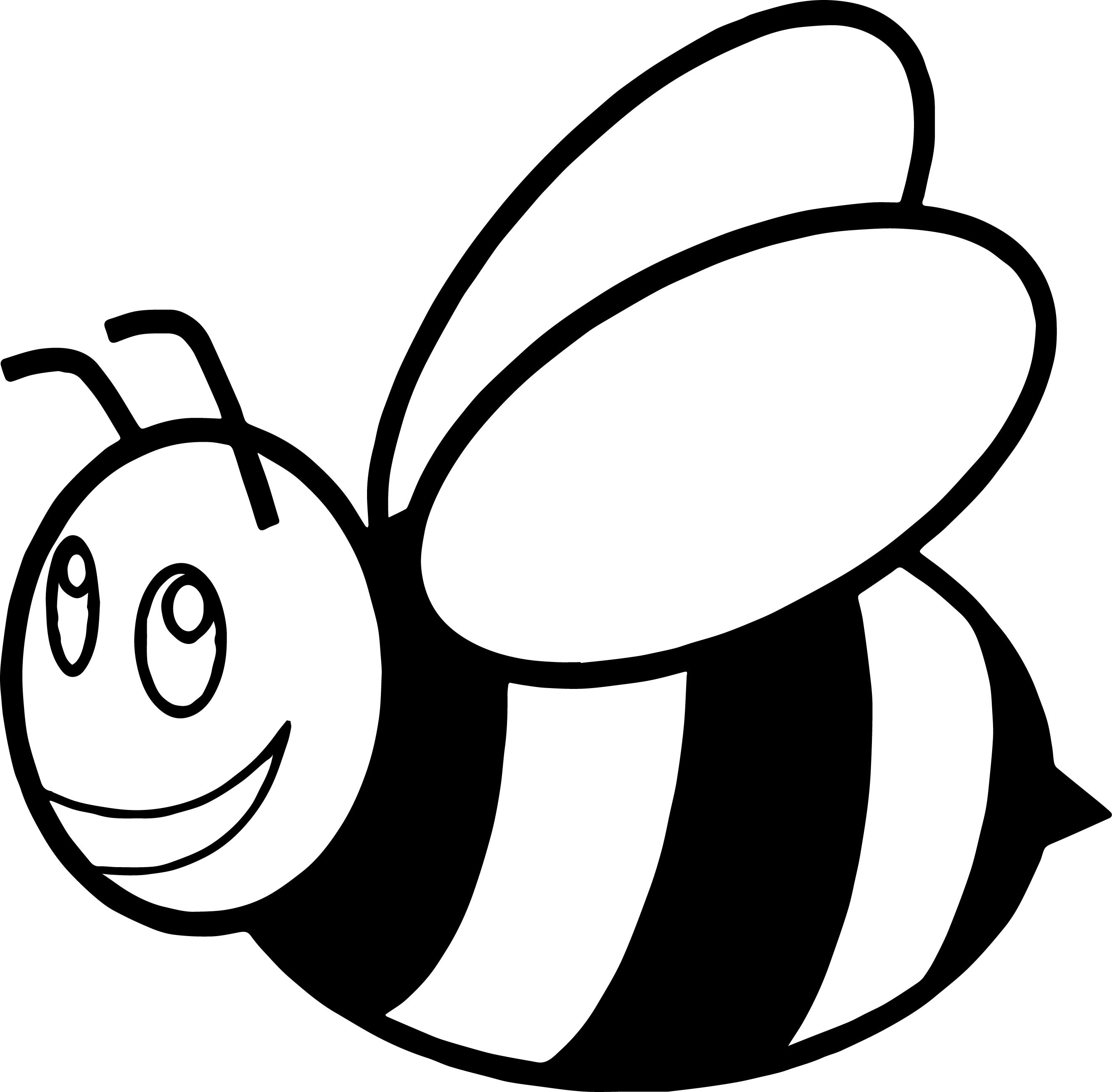 Bee pattern. Use the printable outline for crafts, creating