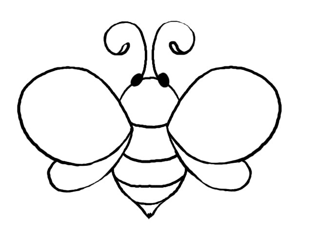 Free Bee templates basic bee (put student's pics in the middle