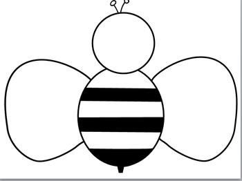 Bee Template by Lisa Dance | Teachers Pay Teachers