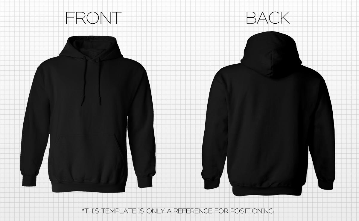 26 Images of Black Hoodie Template | leseriail.com