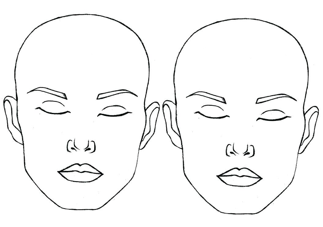 Blank Face Templates with Face Parts by Twinkl Printable Resources