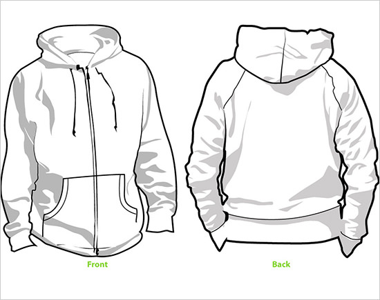 45+ Hoodie Templates Free PSD, EPS, TIFF Format Download! | Free