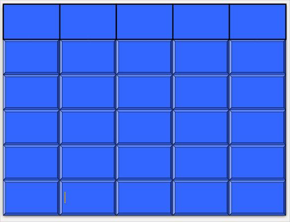 Blank Jeopardy Template Blank Templates | Free & Premium Templates