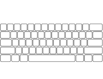 Computer Keyboard and Keypad * blank * by Ginger's Dollar Tech Stop