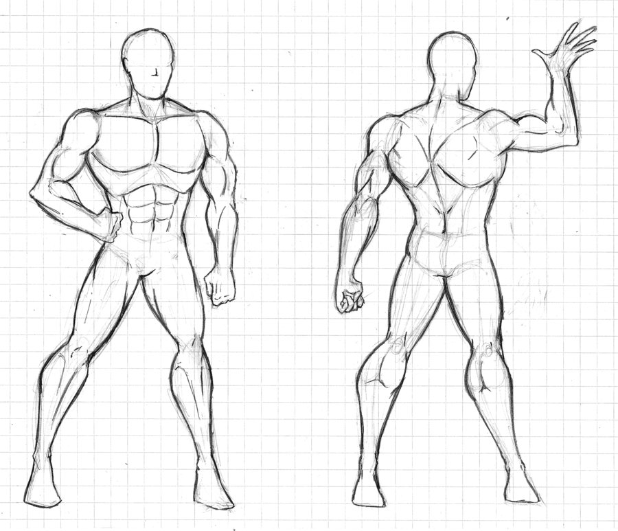 front and back human body outline April.onthemarch.co