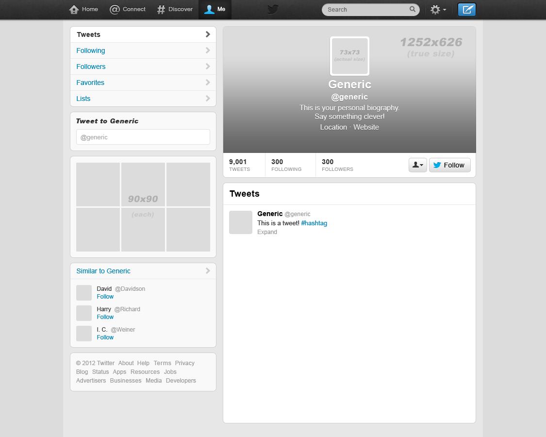 blank twitter template