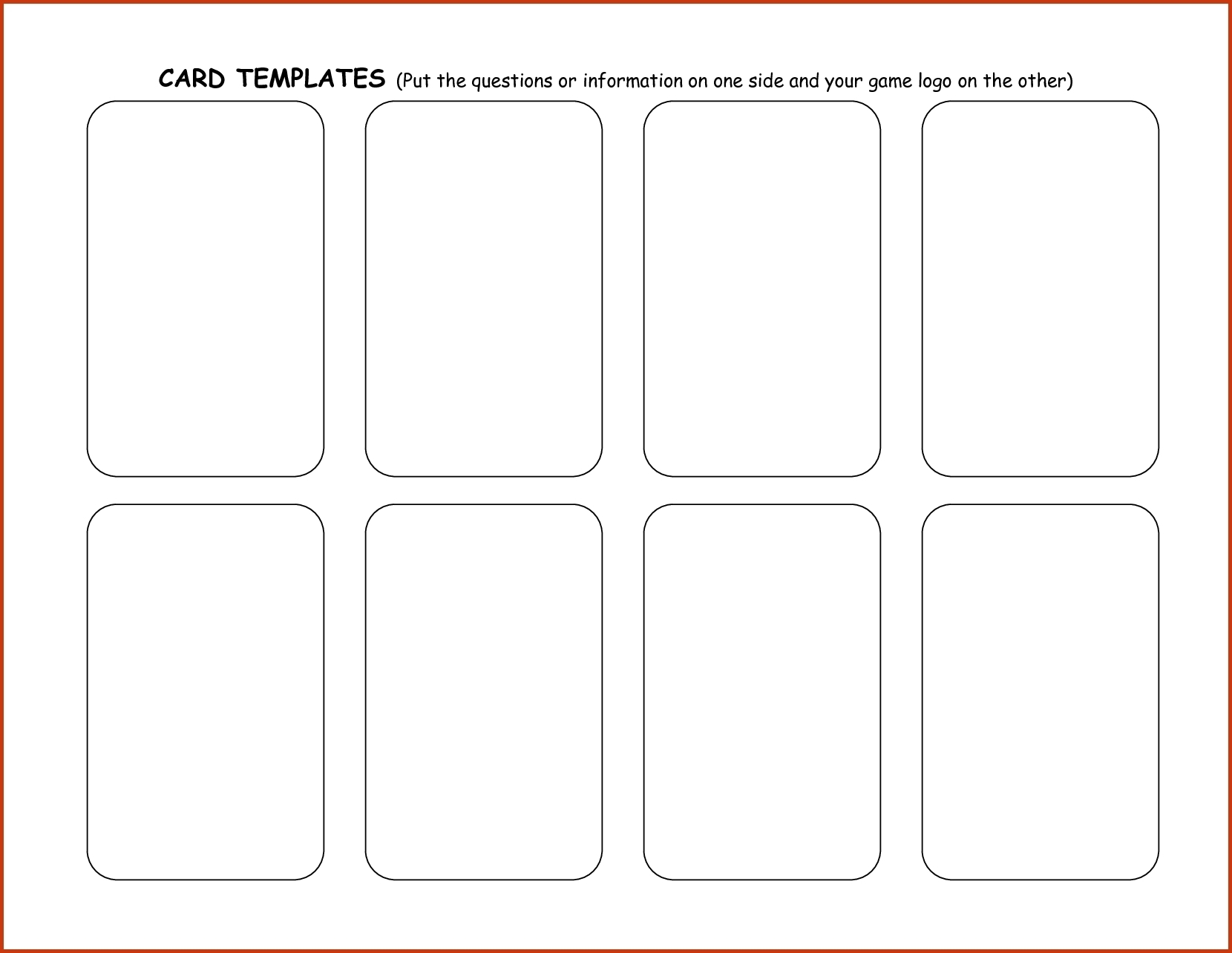 card template | Dungeons & Dragons: Conquest of Nerath Board Game