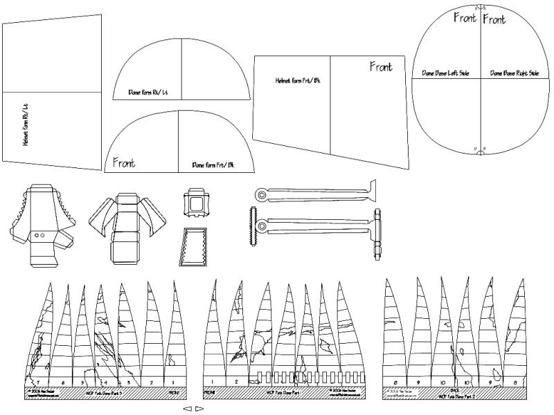 Boba Fett Helmet Blueprints/Templates / geeking Juxtapost