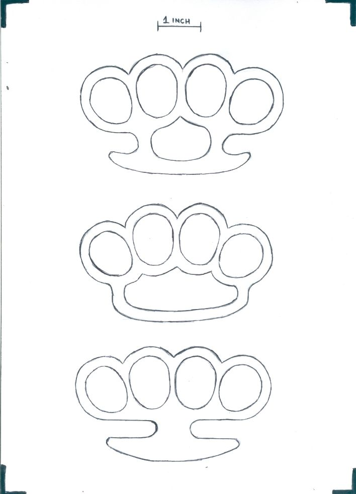 Make some wooden brass knuckles / knuckle dusters! Free template