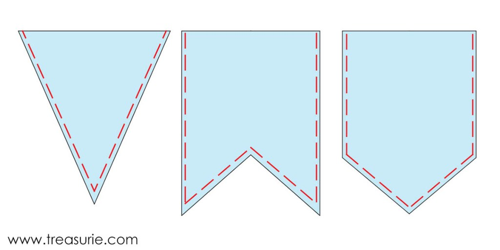 Printable Bunting Template wikiHow