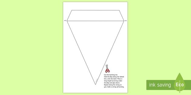 Blank Bunting Template bunting, bunting template, blank
