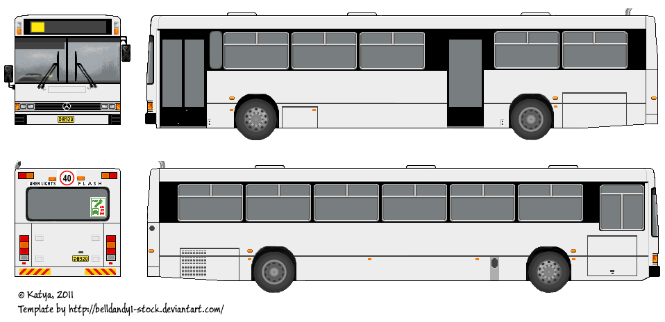 Bus Template by Belldandy1 Stock on DeviantArt