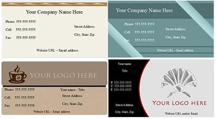 Quick Business Cards in Openoffice.& Template Download