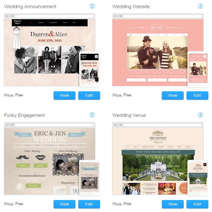 Wix Website Templates for Weddings & Events | Premium Blogger