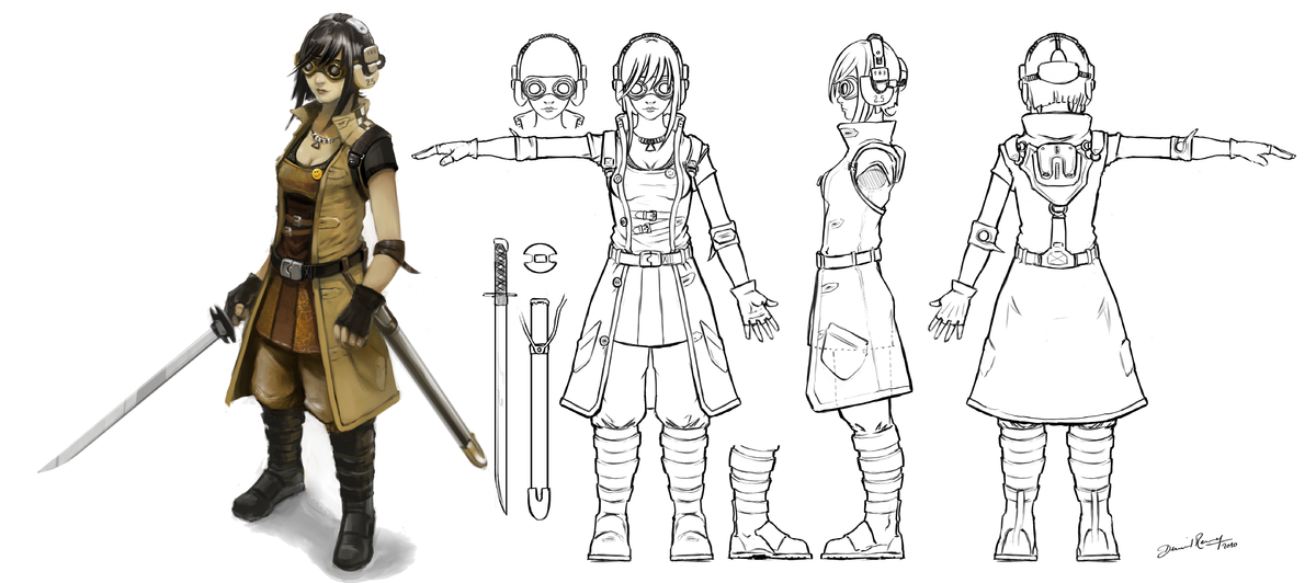 character model template April.onthemarch.co