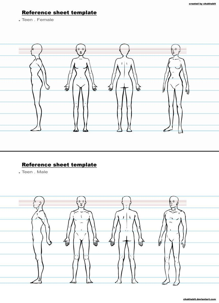 ref sheet template b by chakhabit   Drawing References   Pinterest