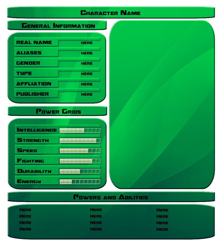 Template : Character Stats by vipplayer on DeviantArt