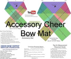 DIY Cheer Bow Maker's Mat. This folding template shows how to