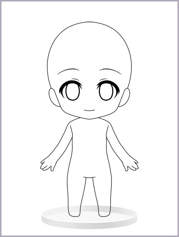 chibi body Pesquisa Google | desenhando | Pinterest | Chibi body