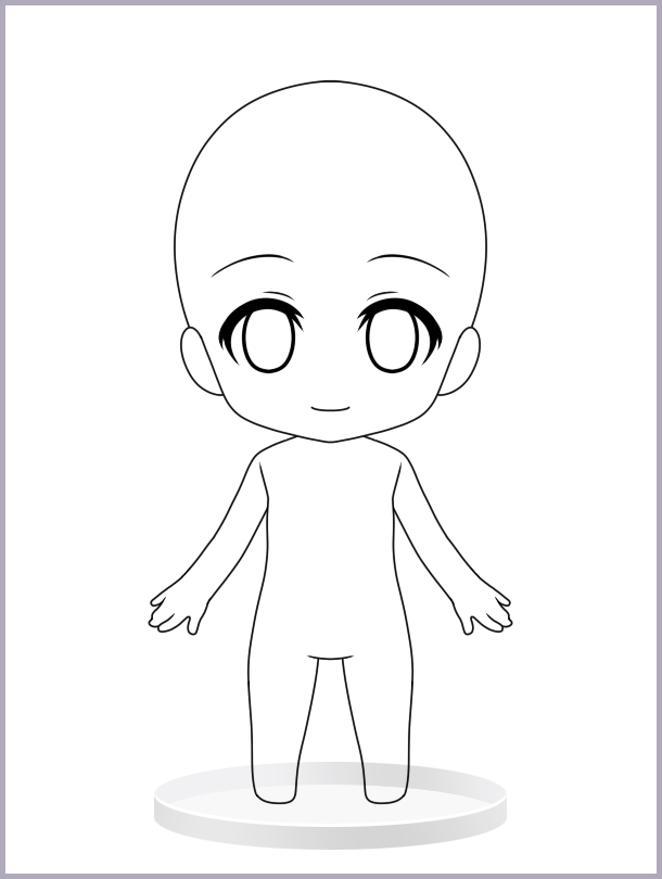 chibi template April.onthemarch.co